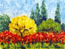 Żółty drzewo Obrazy Stock