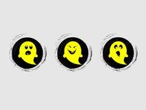 Żółty ducha charakter Ilustracja Wektor