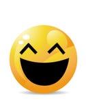 Żółty emoticon postać z kreskówki Obrazy Stock