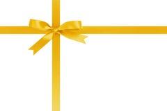 Żółty faborku krzyż z łękiem dla pakować z obrazy royalty free