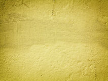 Żółty farby ściany tło lub tekstura Zdjęcie Royalty Free