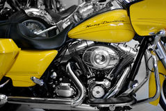 Żółty harlet davison szczegół Zdjęcia Stock