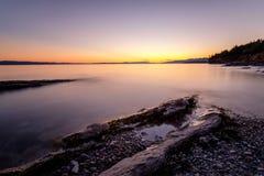 Żółty horyzont Zdjęcie Royalty Free