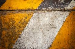 Żółty i biały ocechowanie Zdjęcie Royalty Free