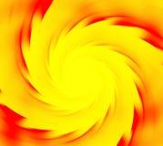 Żółty i czerwony abstrakcjonistyczny tło Ślimakowaci promienie sunflare słońce Fotografia Royalty Free