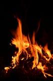 Żółty i gorący blask ogień Fotografia Royalty Free