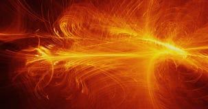 Żółty I Pomarańczowy abstrakt Wykłada krzyw cząsteczek tło Obrazy Stock