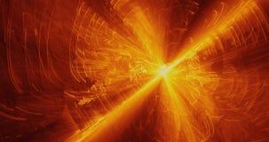 Żółty I Pomarańczowy abstrakt Wykłada krzyw cząsteczek tło Zdjęcia Royalty Free
