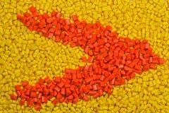 Żółty i pomarańczowy klingeryt granuluje zdjęcie royalty free