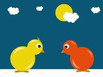 Dwa kurczaka Zdjęcia Royalty Free