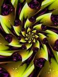 Żółty i Purpurowy Digital Wzrastał ilustracja wektor