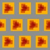 Żółty i szary abstrakta kwadrata tkaniny projekta wektor EPS10 Ilustracja Wektor