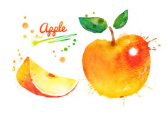 Żółty jabłko Zdjęcia Royalty Free