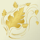 Żółty jesień liść Zdjęcie Stock