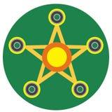 Żółty kądziołek w postaci gwiazdy Obrazy Royalty Free