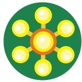 Żółty kądziołek z piłkami na ostrzach Fotografia Stock