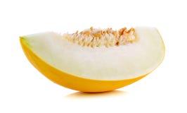 Żółty kantalup odizolowywający na białym tle zdjęcia stock