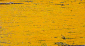 Żółty kolor drewniany tekstury tło Fotografia Stock