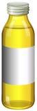 Żółty kolor w szklanej butelce ilustracja wektor