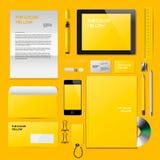 Żółty Korporacyjny ID mockup ilustracji