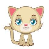 Żółty kota obsiadanie Fotografia Royalty Free