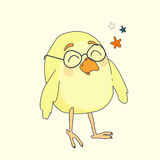 Żółty kreskówka ptak Obraz Royalty Free