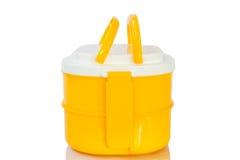 Żółty lunchu pudełko Fotografia Royalty Free