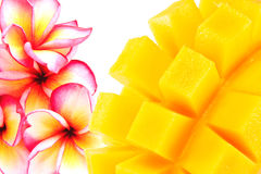 Żółty mango odizolowywający na białym tle Obrazy Royalty Free