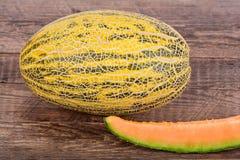 Żółty melon Fotografia Royalty Free