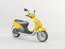 Żółty motocykl 3d Obrazy Stock