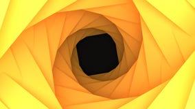 Żółty Obrotowy Niski Poli- Geometryczny zawijasa tło Zdjęcia Stock