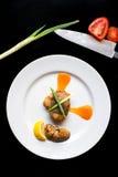 Żółty ogon polędwicowy je obiad Fotografia Stock