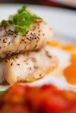 Żółty ogon polędwicowy je obiad Zdjęcie Royalty Free