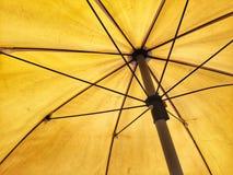 Żółty parasol Obraz Stock