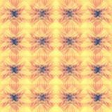Żółty pastelowy abstrakcjonistyczny geometryczny tło wzór Zdjęcie Stock