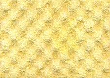 Żółty piankowej gumy tekstury tło fotografia royalty free