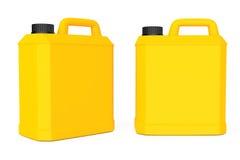 Żółty Plastikowy Pusty zbiornik świadczenia 3 d Obrazy Stock