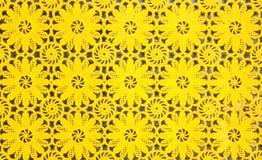 Żółty plastikowy tło Zdjęcie Royalty Free