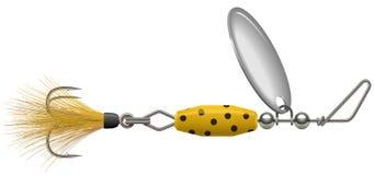 Żółty polki kropki kądziołek royalty ilustracja