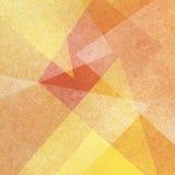 Żółty pomarańcze i bielu tło z abstrakcjonistycznymi trójbok warstwami z przejrzystą teksturą Obraz Royalty Free