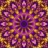 Żółty purpurowy kalejdoskop Obrazy Stock