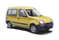 Żółty Renault Kangoo zdjęcia royalty free