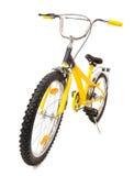 Żółty rower odizolowywający na bielu Zdjęcia Royalty Free