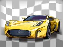Żółty samochód szybciej Fotografia Stock