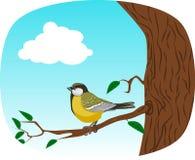 Ptak na drzewie Zdjęcia Stock
