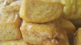 Żółty tofu Fotografia Royalty Free