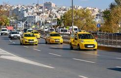 Żółty turecki taxi samochód istanbul indyk Zdjęcia Stock