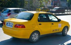 Żółty turecki taxi samochód istanbul indyk Zdjęcia Royalty Free