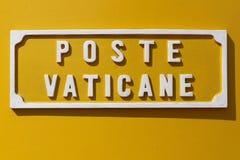 Żółty Watykański Listowy pudełko zdjęcia royalty free