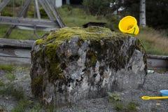Żółty Wiadro Fotografia Royalty Free